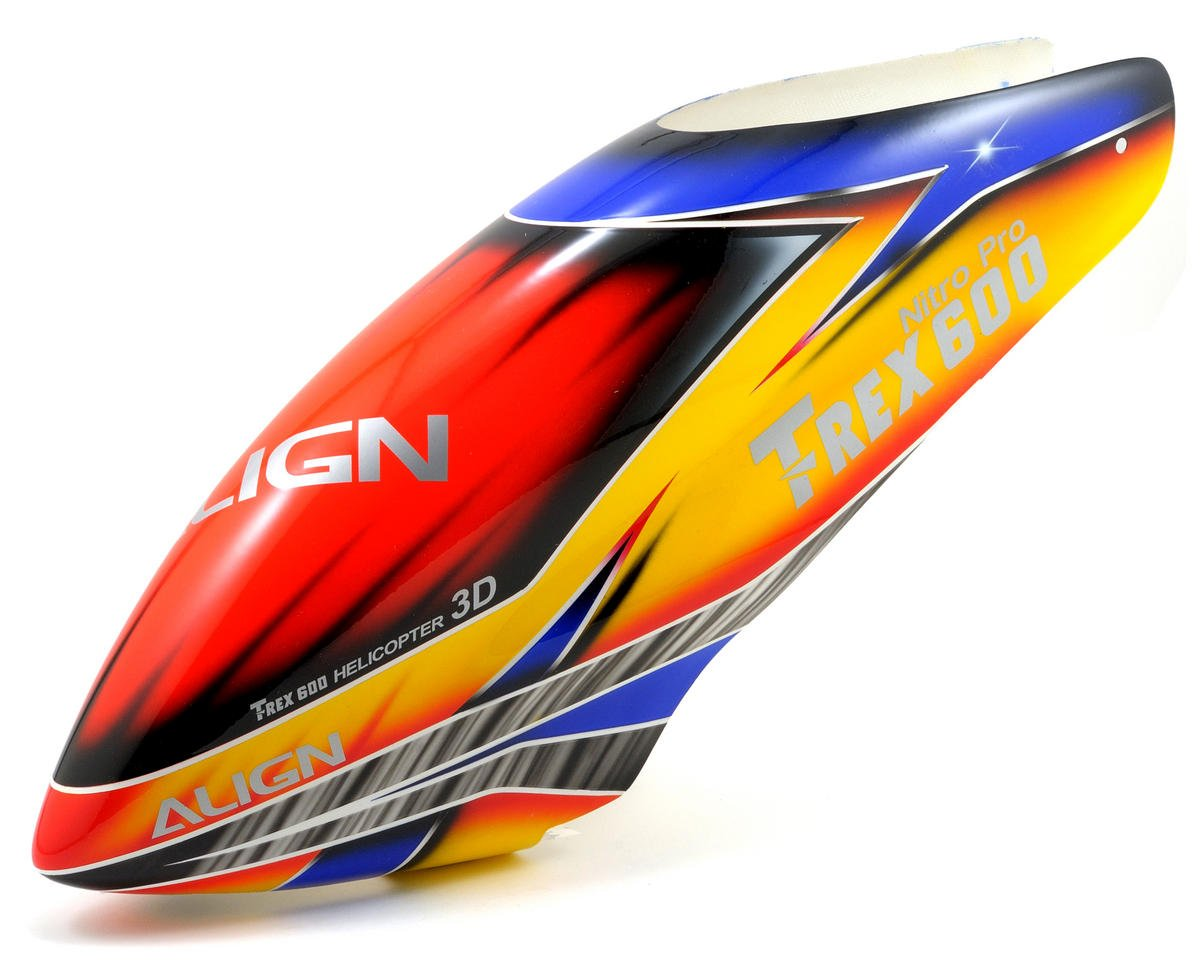 Align 600N Painted Canopy (Blue/Yellow/Red)