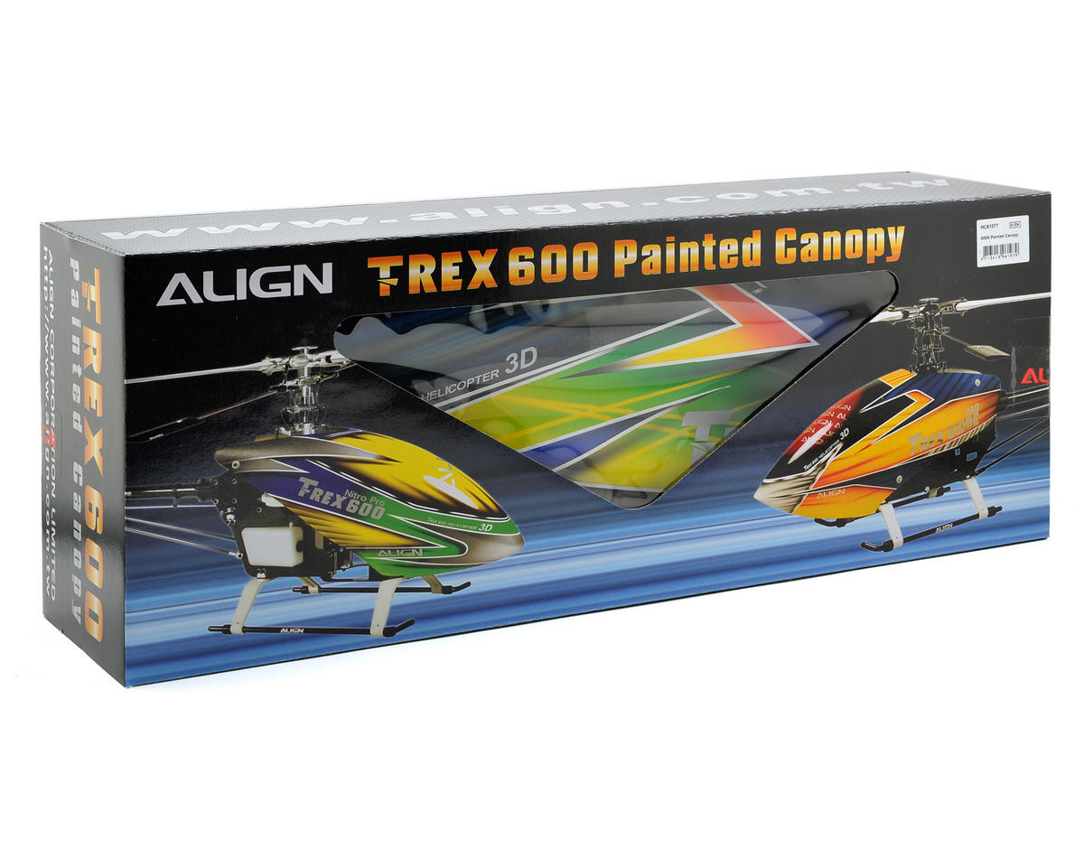 Align 600N Painted Canopy (Blue/Green/Yellow)