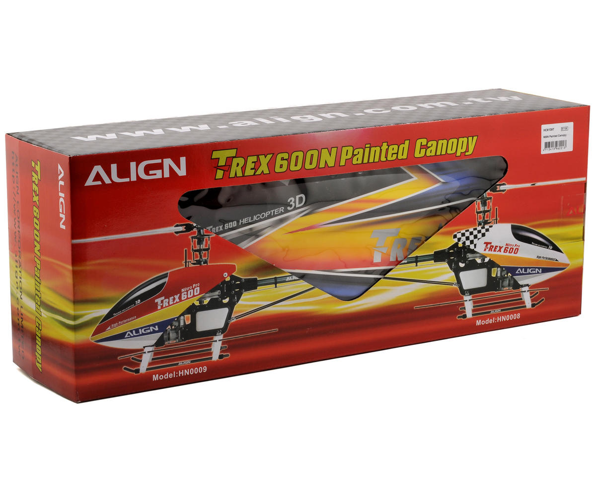 Align 600N Painted Canopy (Yellow/Blue/White)