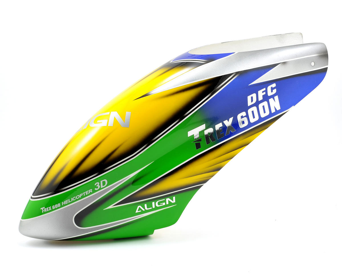 Align T-Rex 600N DFC Painted Canopy (Blue/Green/Yellow)