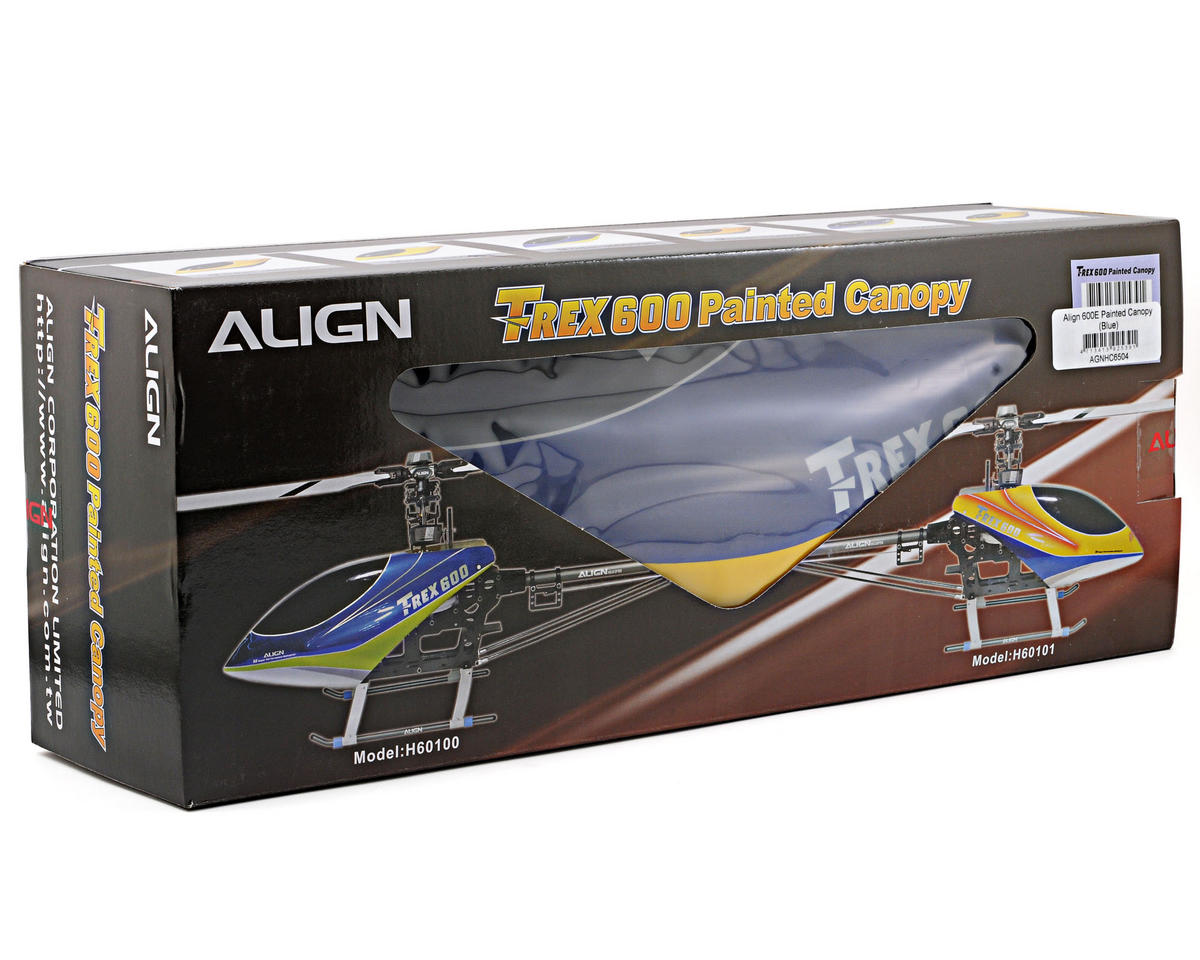 Align 600E Painted Canopy (Blue)