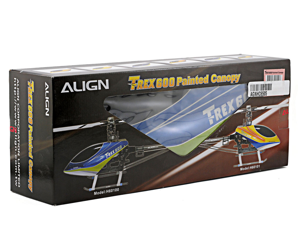 Align 600E Painted Canopy (Lightning Blue)