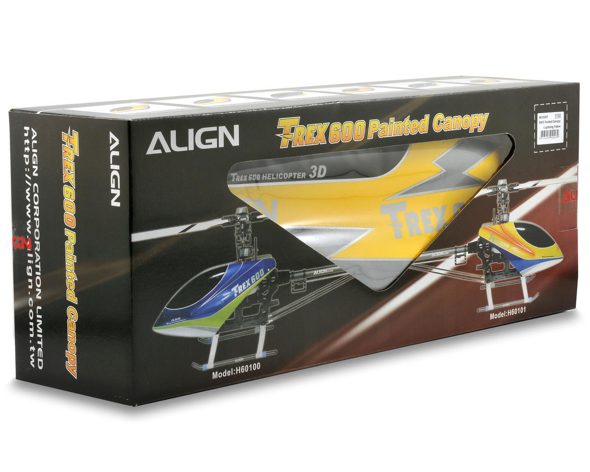 Align 600E Painted Canopy (Lightning Yellow)