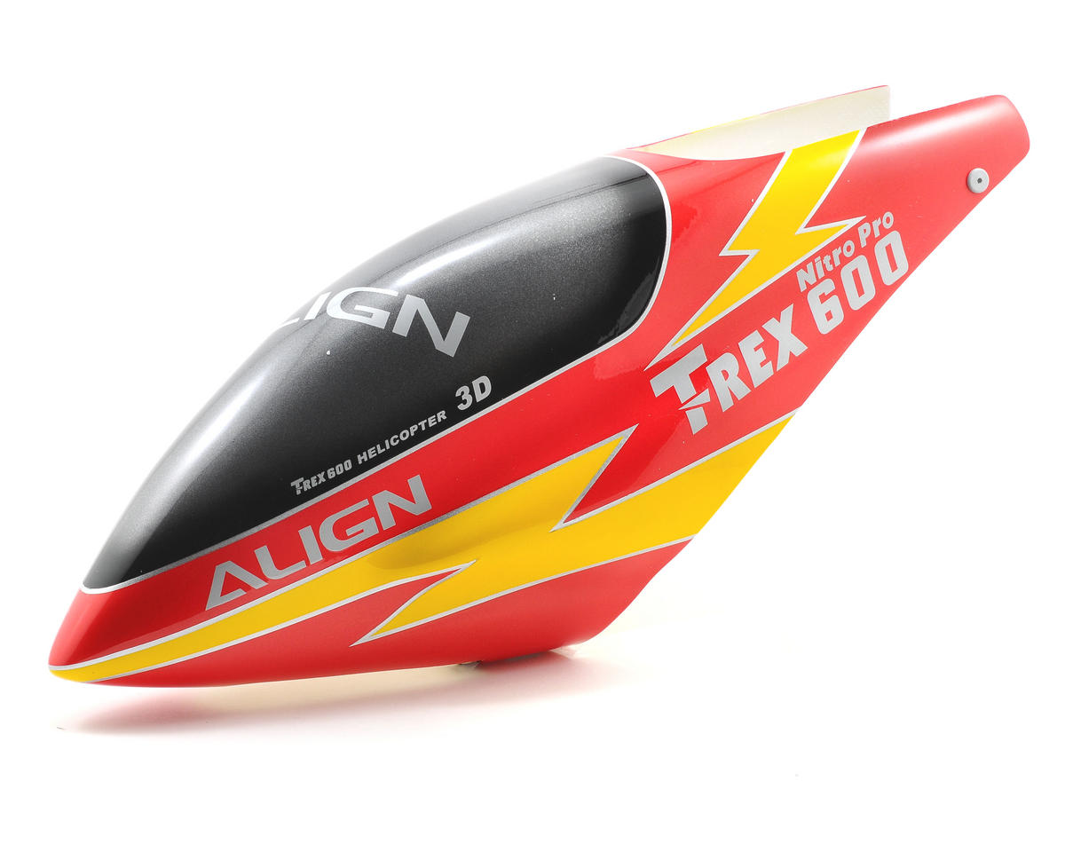 Align 600E Painted Canopy (Lightning Red)