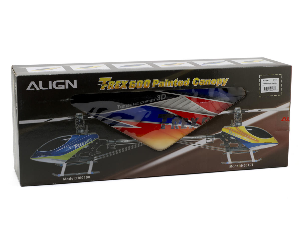 Align 600E Painted Canopy (Blue/Orange/Yellow)