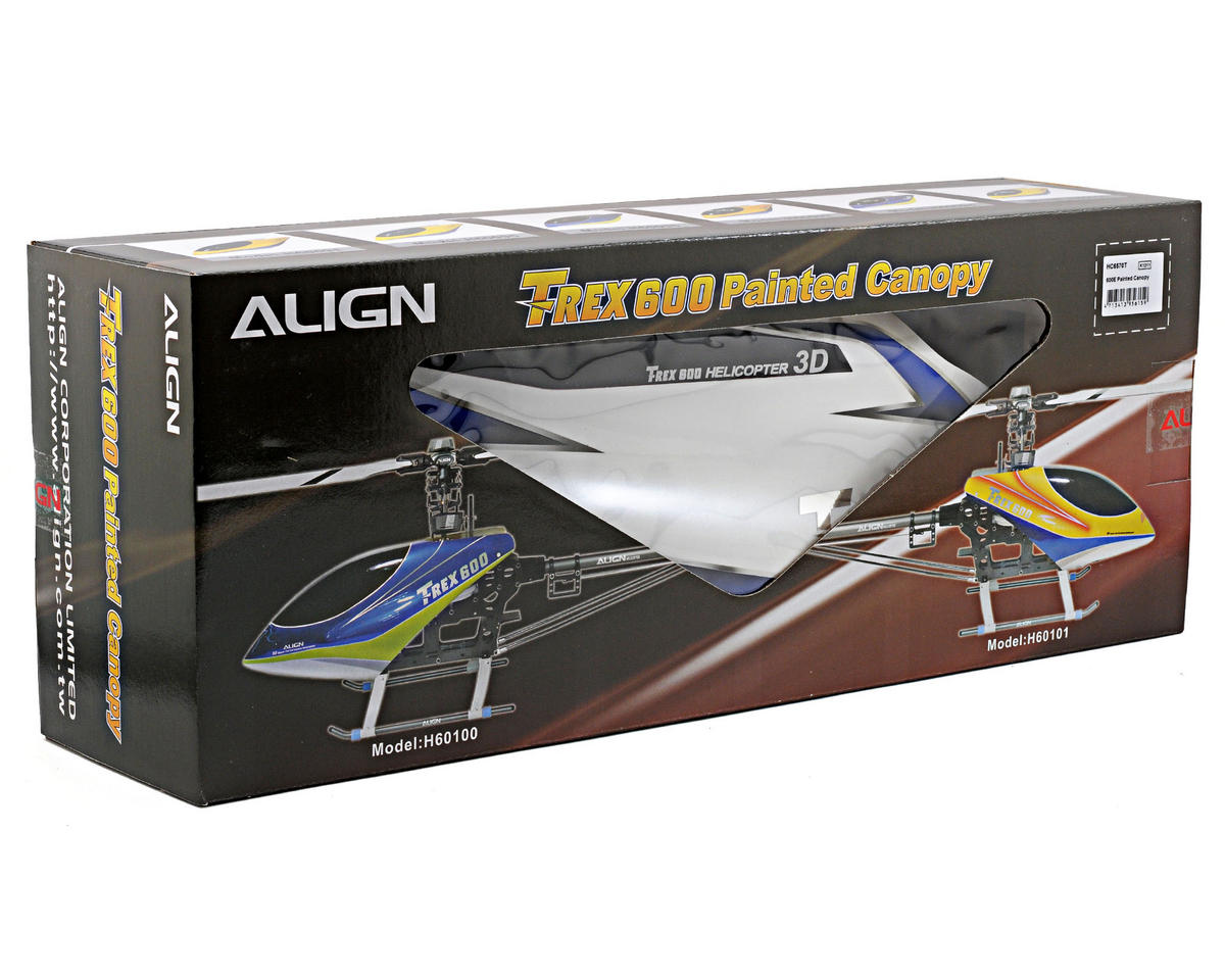 Align 600E Painted Canopy (White/Blue)