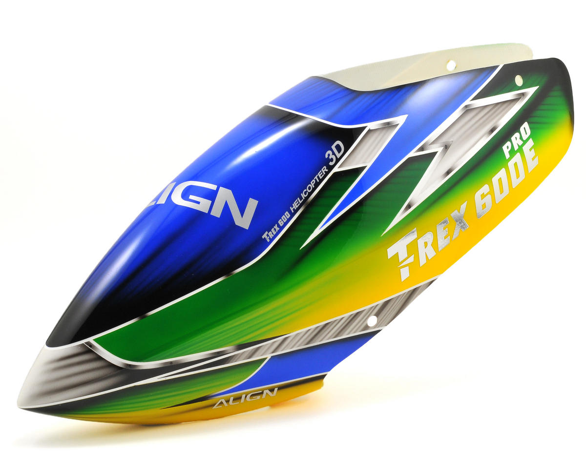 Align 600E PRO Painted Canopy (Blue/Green/Yellow)