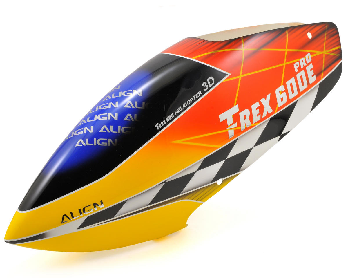 Align 600E PRO Painted Canopy (Red/Yellow)