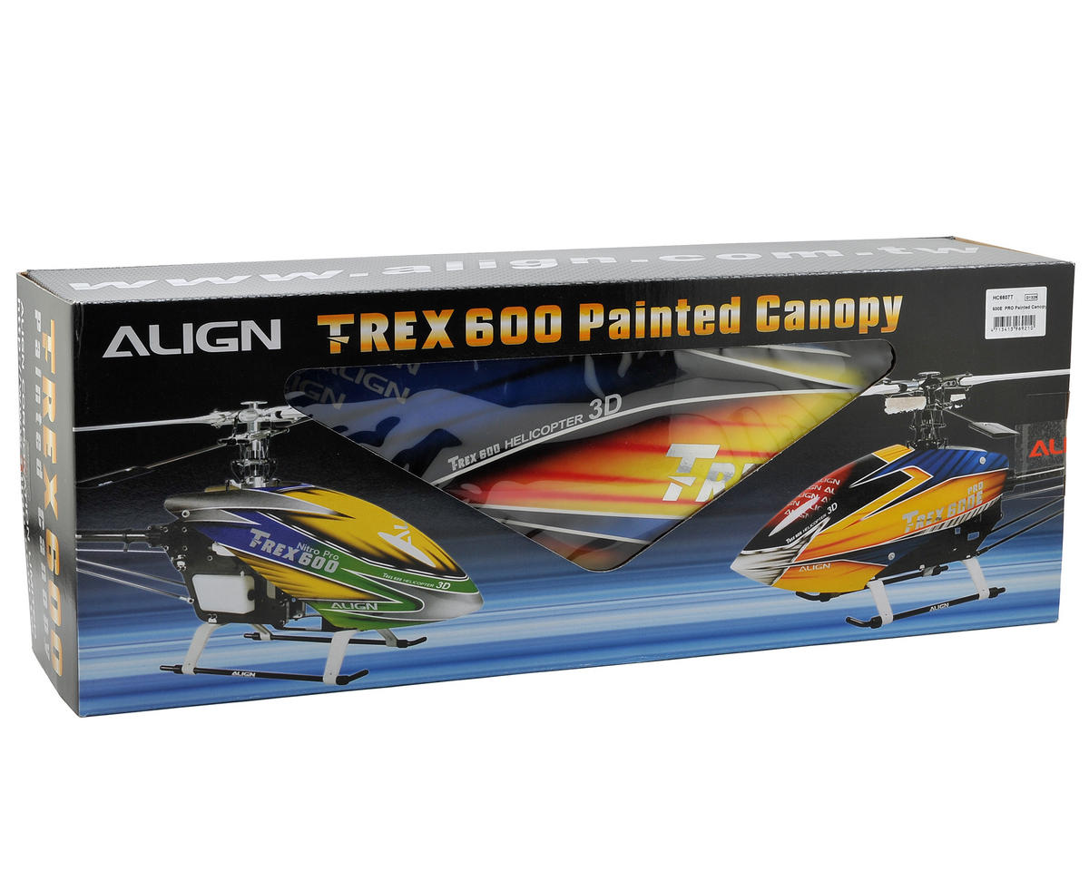Align 600E PRO Painted Canopy (Yellow/Blue/Red)