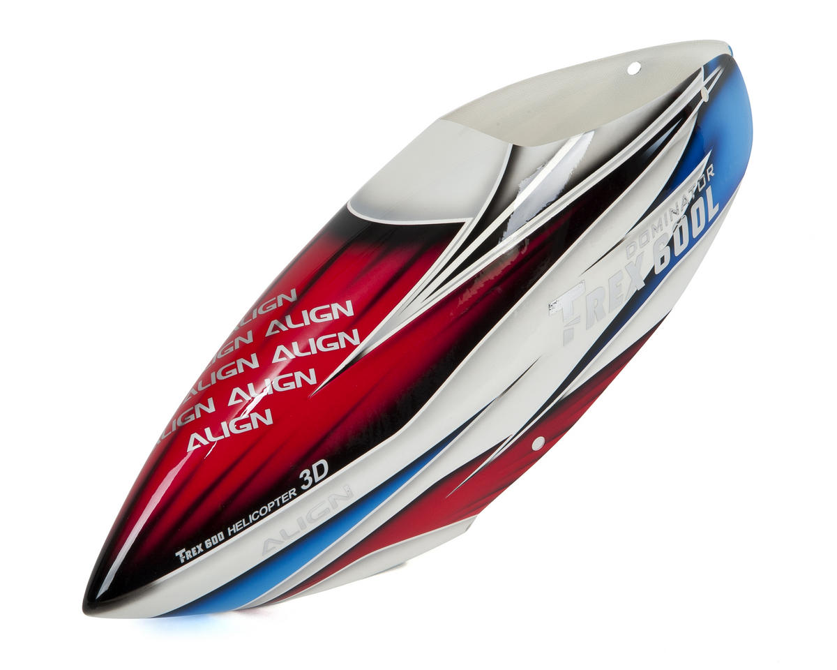 Align T-Rex 600E 600L Dominator Painted Canopy (Red/White/Blue)