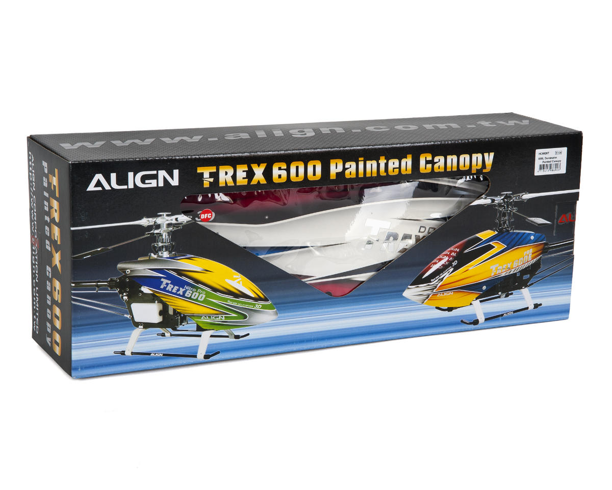 Align 600L Dominator Painted Canopy (Red/White/Blue)