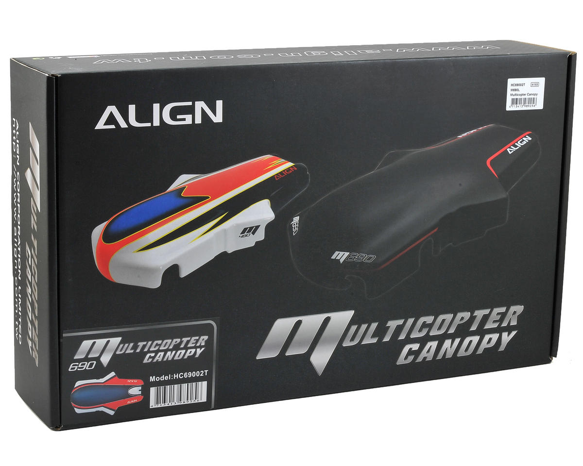 Align M690L Multicopter Canopy (Red/White/Blue)