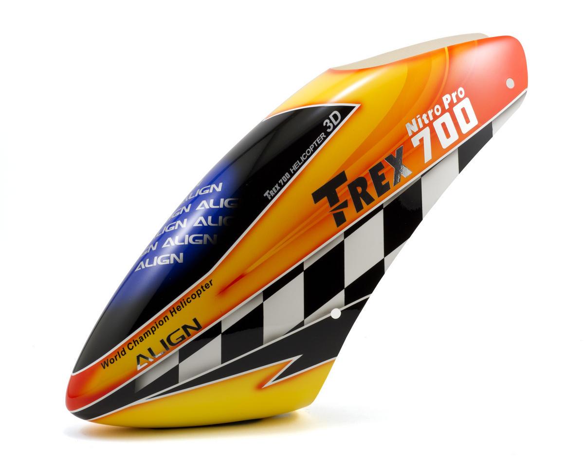 Align 700 Nitro Pro Painted Canopy (Orange/Yellow)