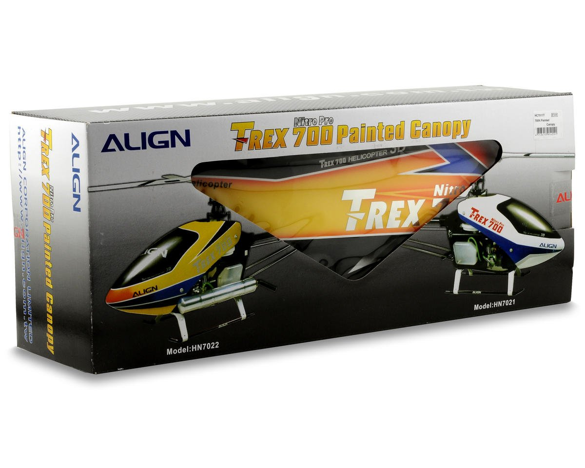 Align 700n Painted Canopy Red Yellow Agnhc7011