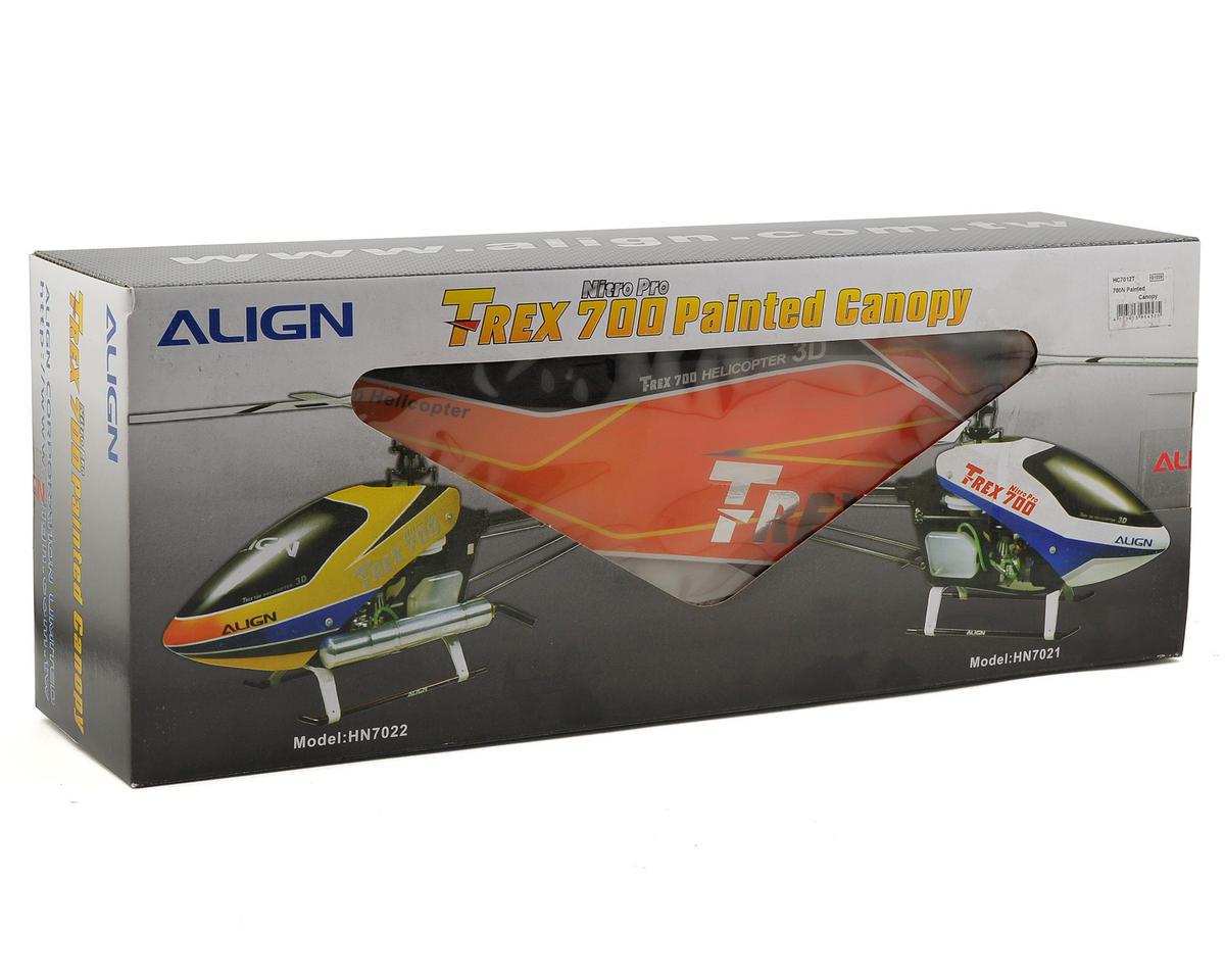 Align 700N PRO Painted Canopy (Blue/Black/Orange)