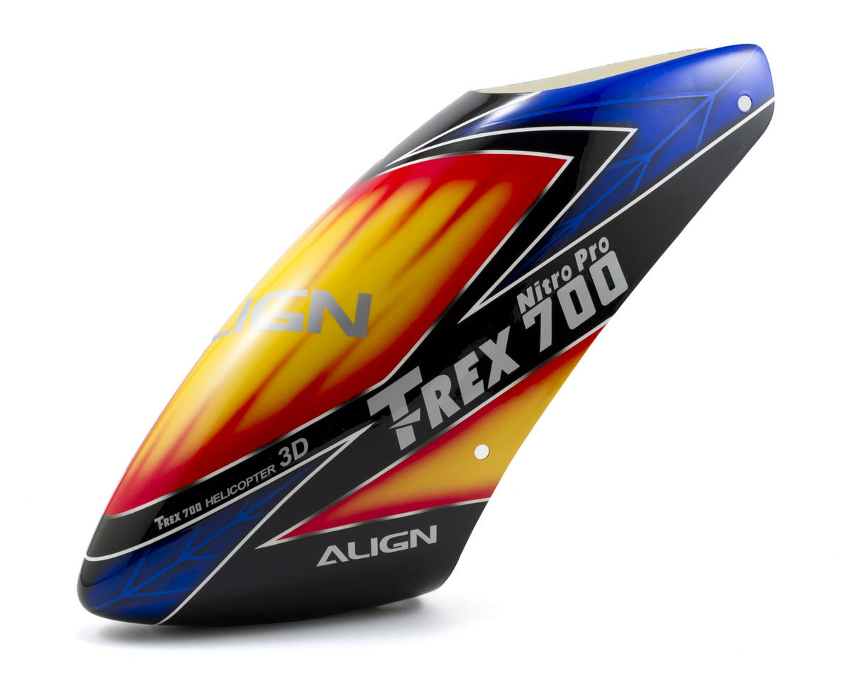 Align 700 Nitro Pro Painted Canopy (Blue/Black/Yellow)