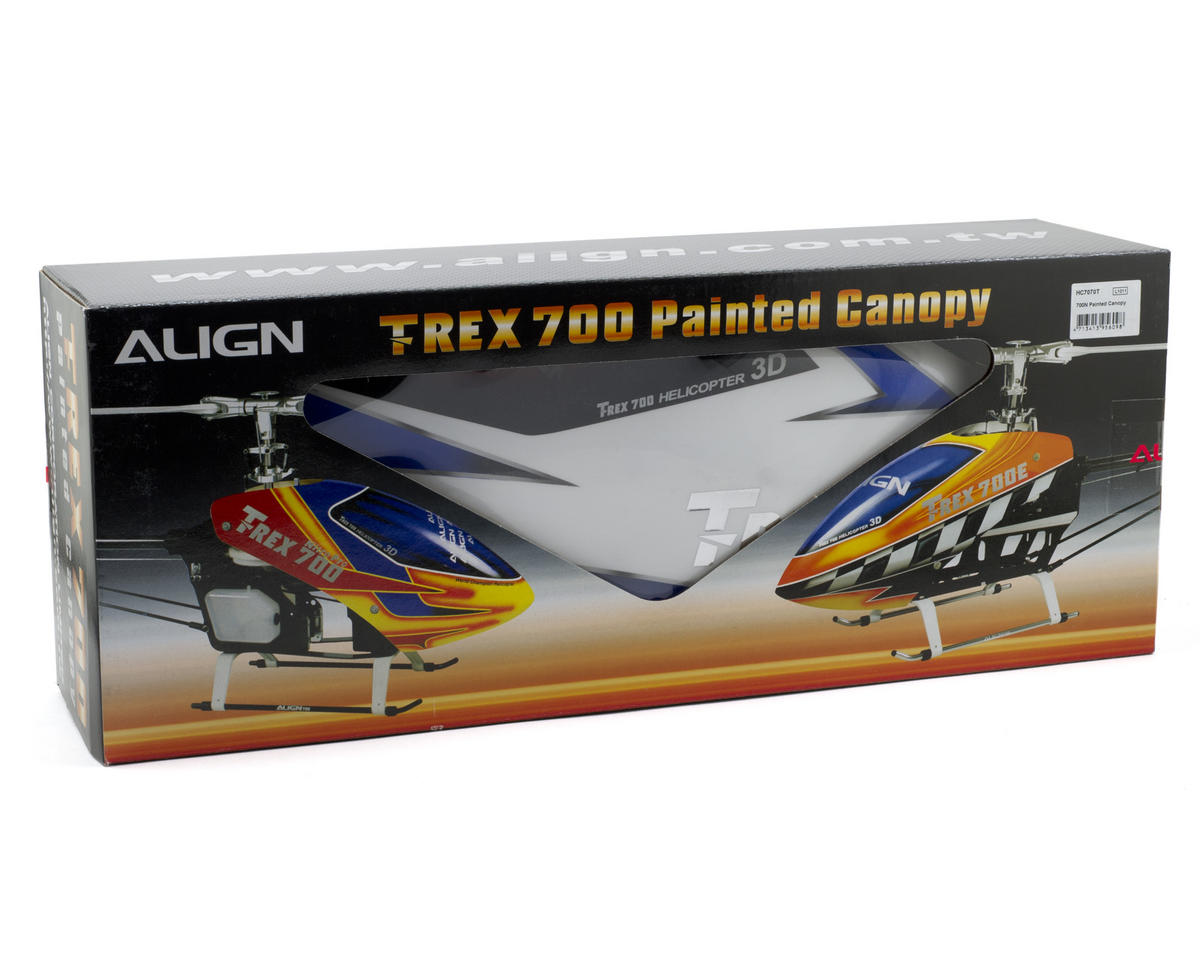 Align 700 Nitro Pro Painted Canopy (White/Blue)