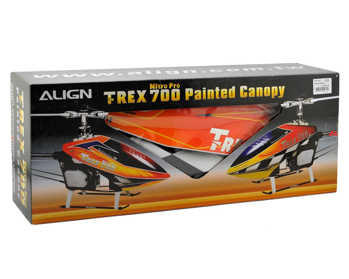 Align 700NA Nitro Pro Painted Canopy (Orange/Yellow)