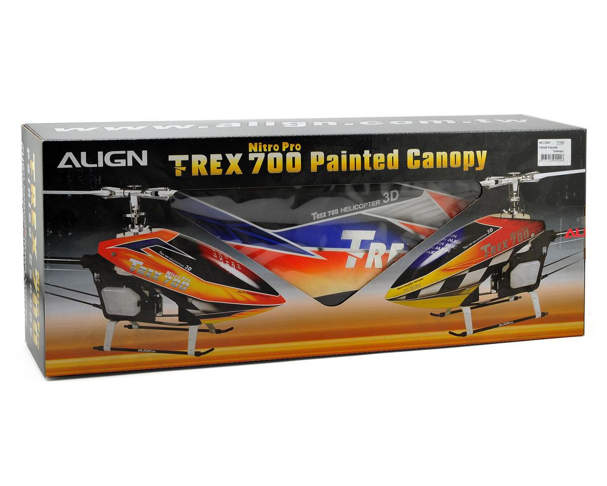Align 700NB Nitro Pro Painted Canopy (Blue/Orange)