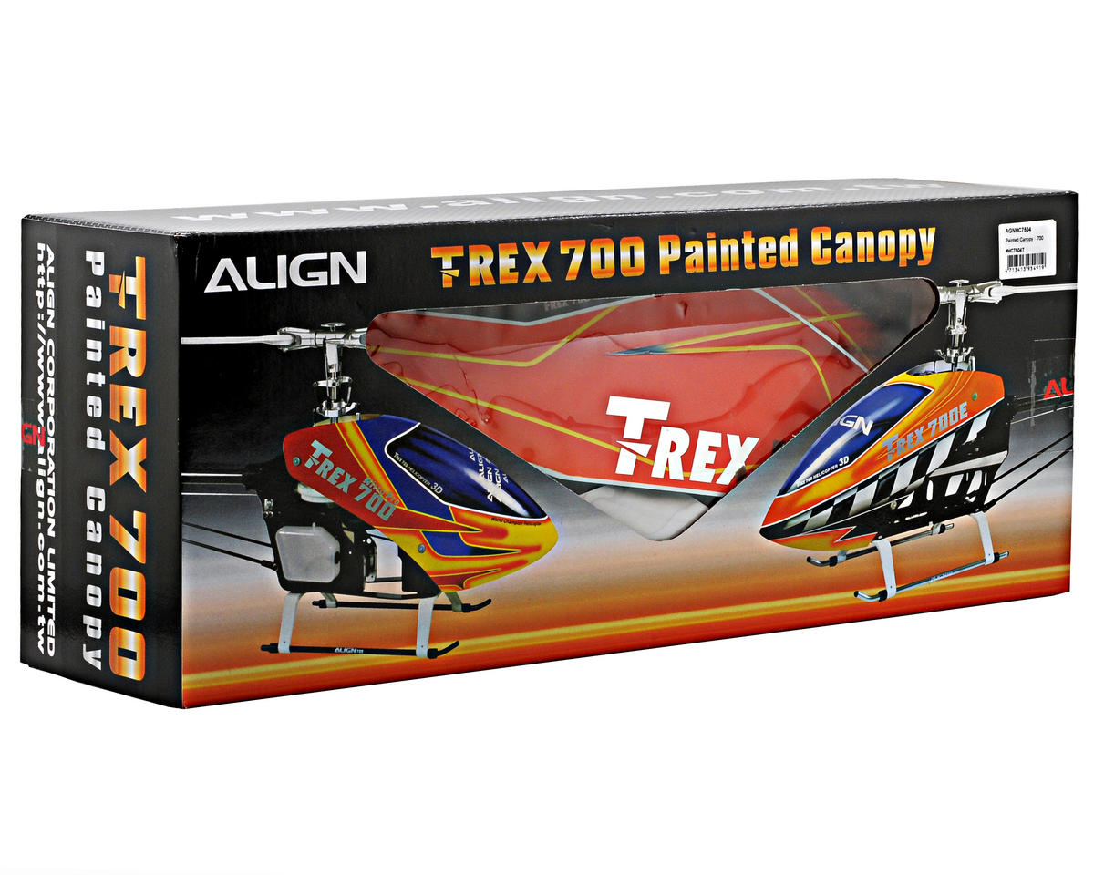 Align 700E Painted Canopy (Orange/Yellow)