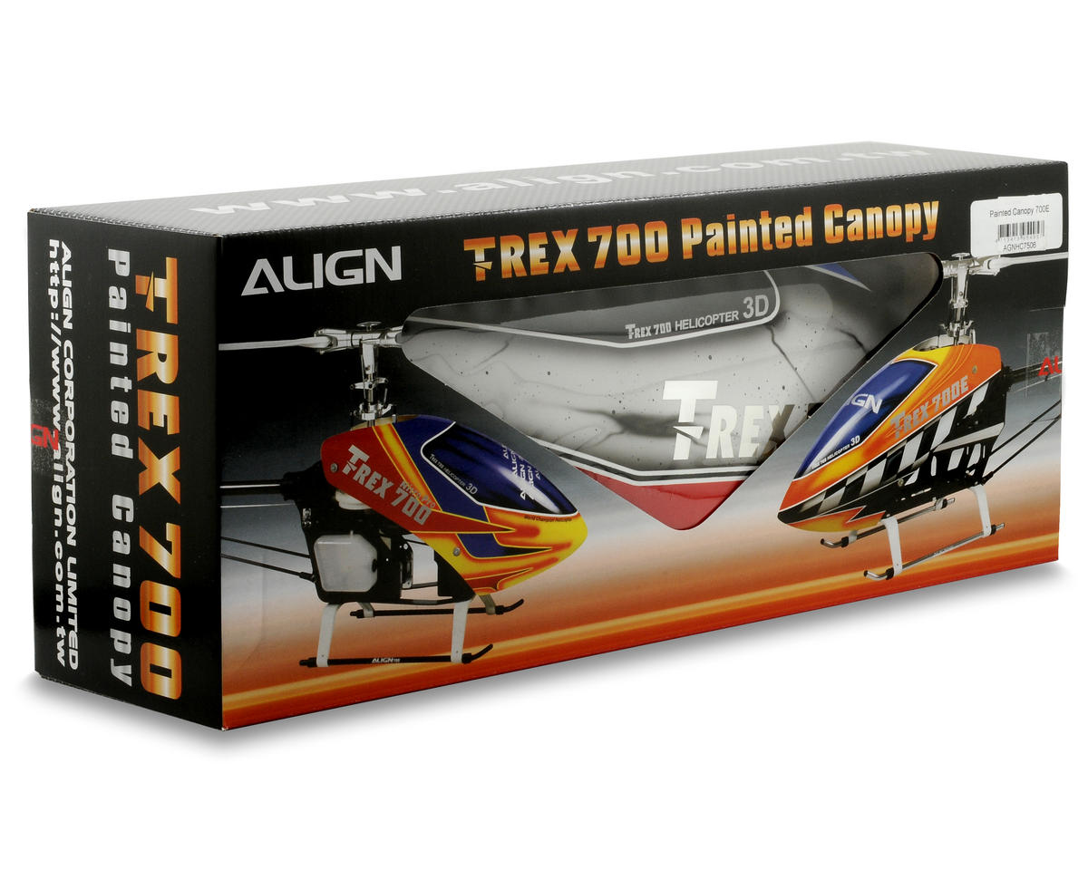 Align 700E Painted Canopy (White/Red)