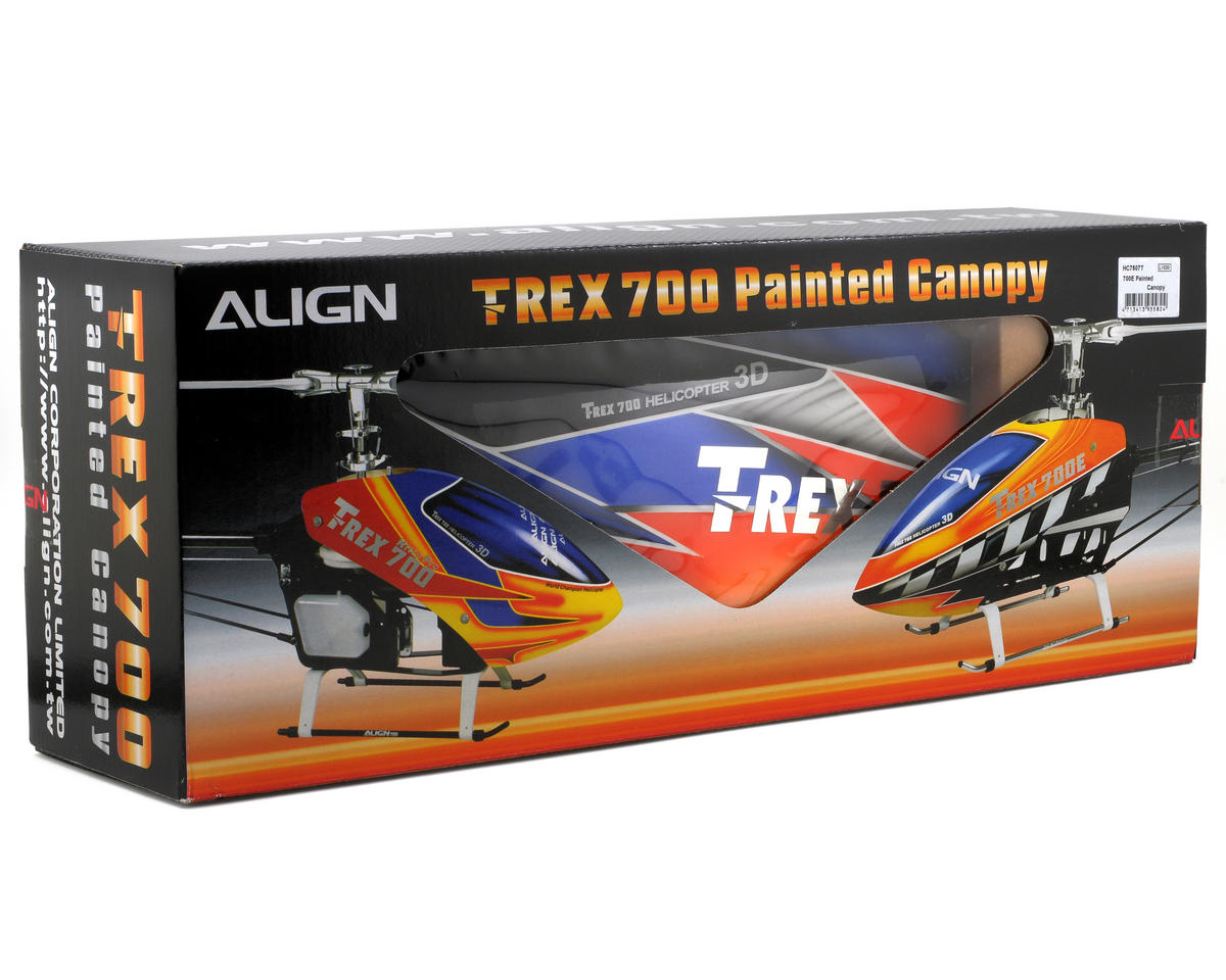 Align 700E Painted Canopy (Blue/Orange)