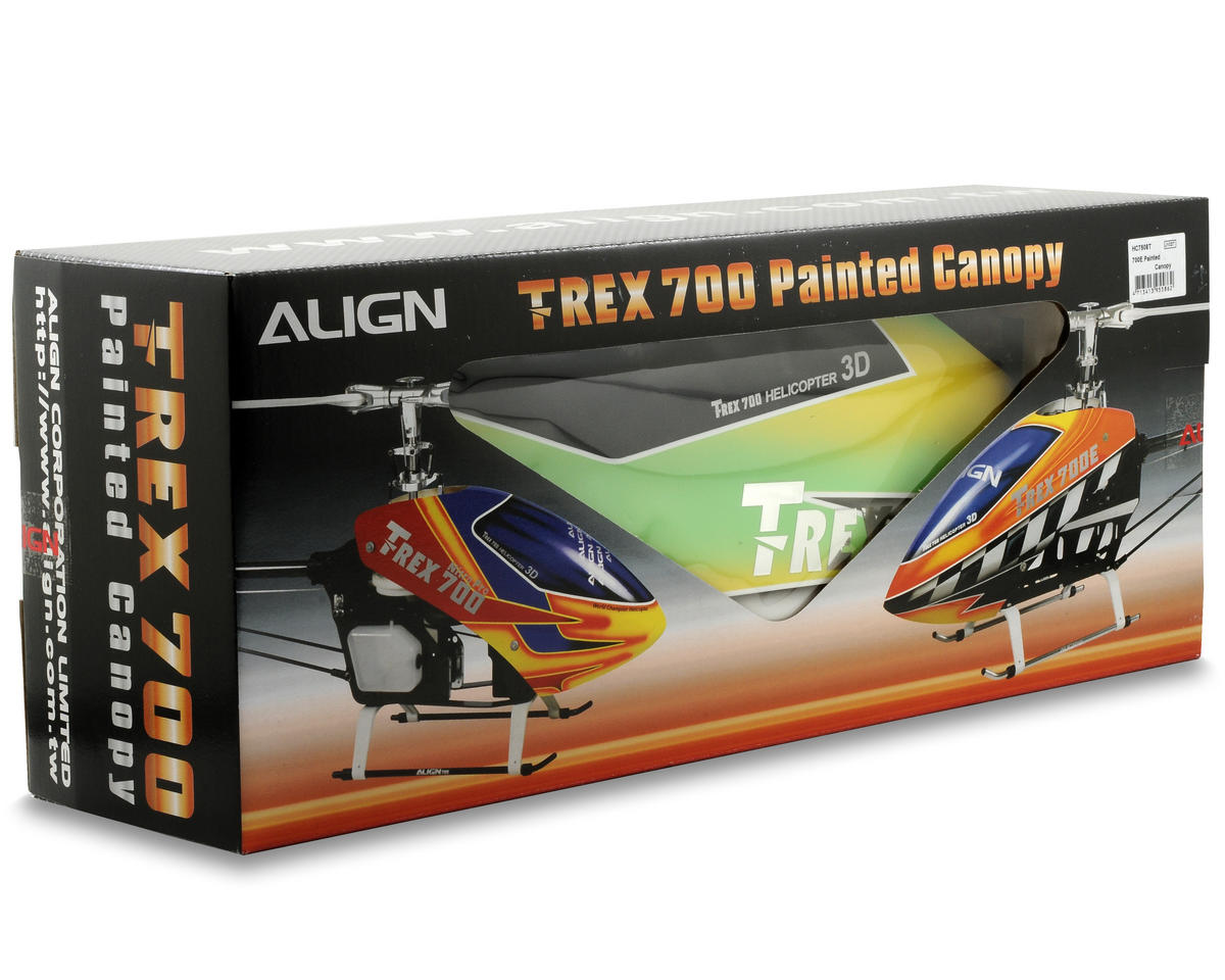 Align 700E Painted Canopy (Yellow/Green)