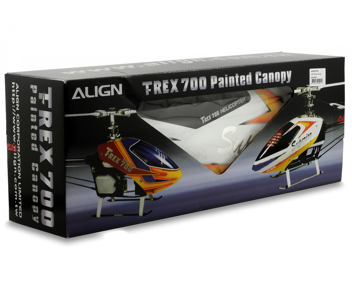 Align 700E F3C Painted Canopy (White/Yellow)