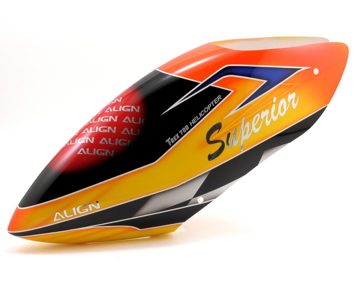 Align 700E F3C Painted Canopy (Orange/Yellow)