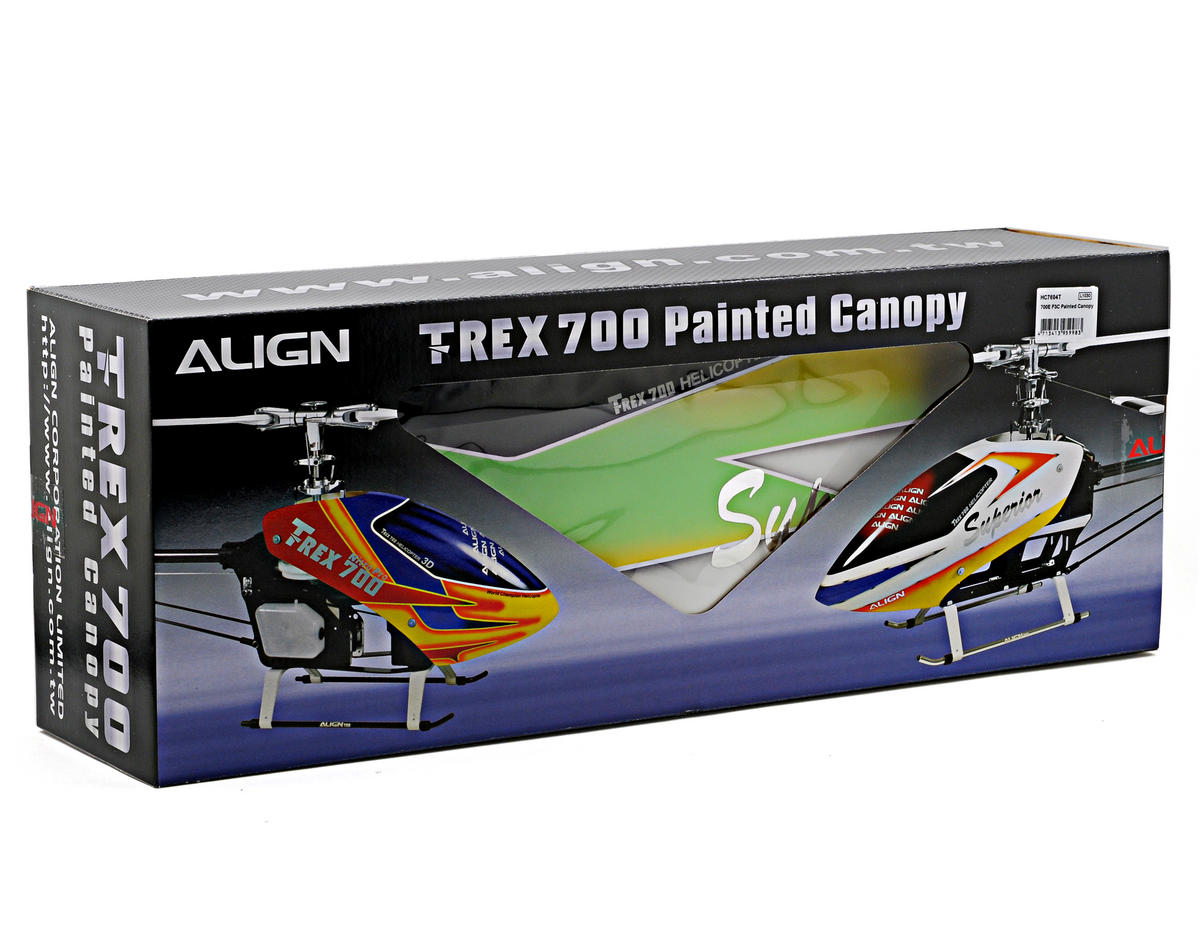 Align 700E F3C Painted Canopy (Green/Yellow/White)