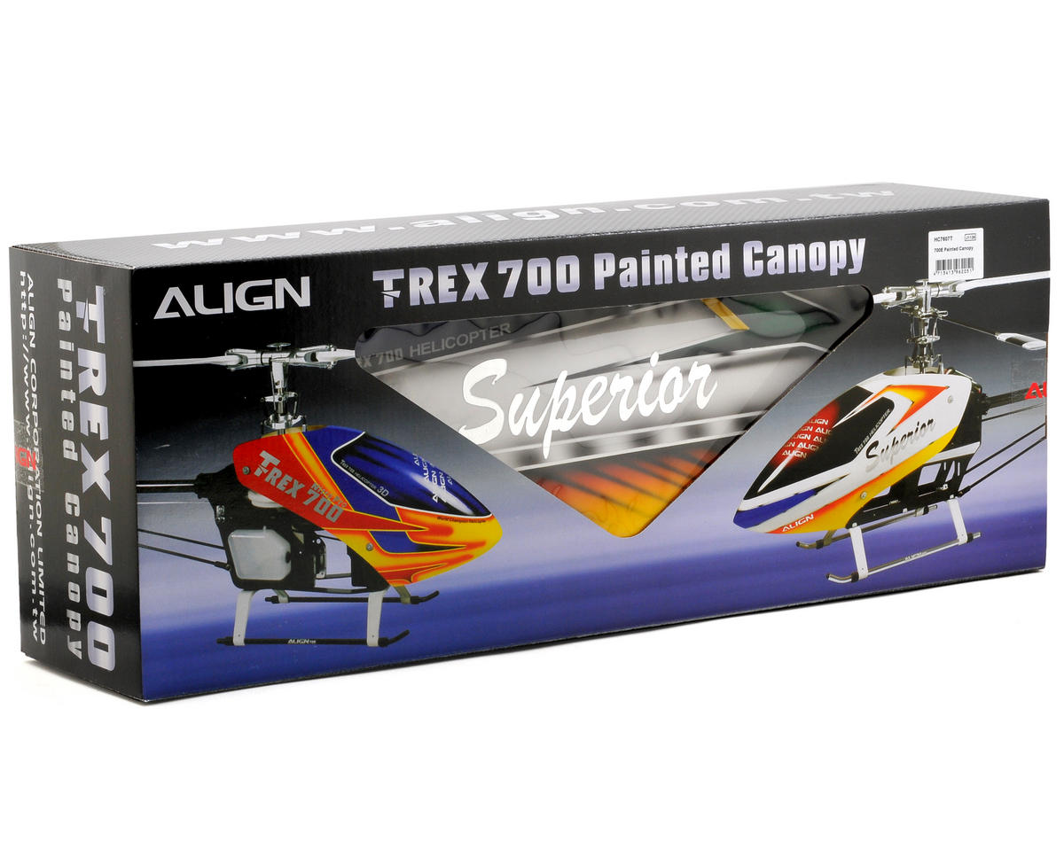 Align 700E Painted Canopy (Green/White/Red)