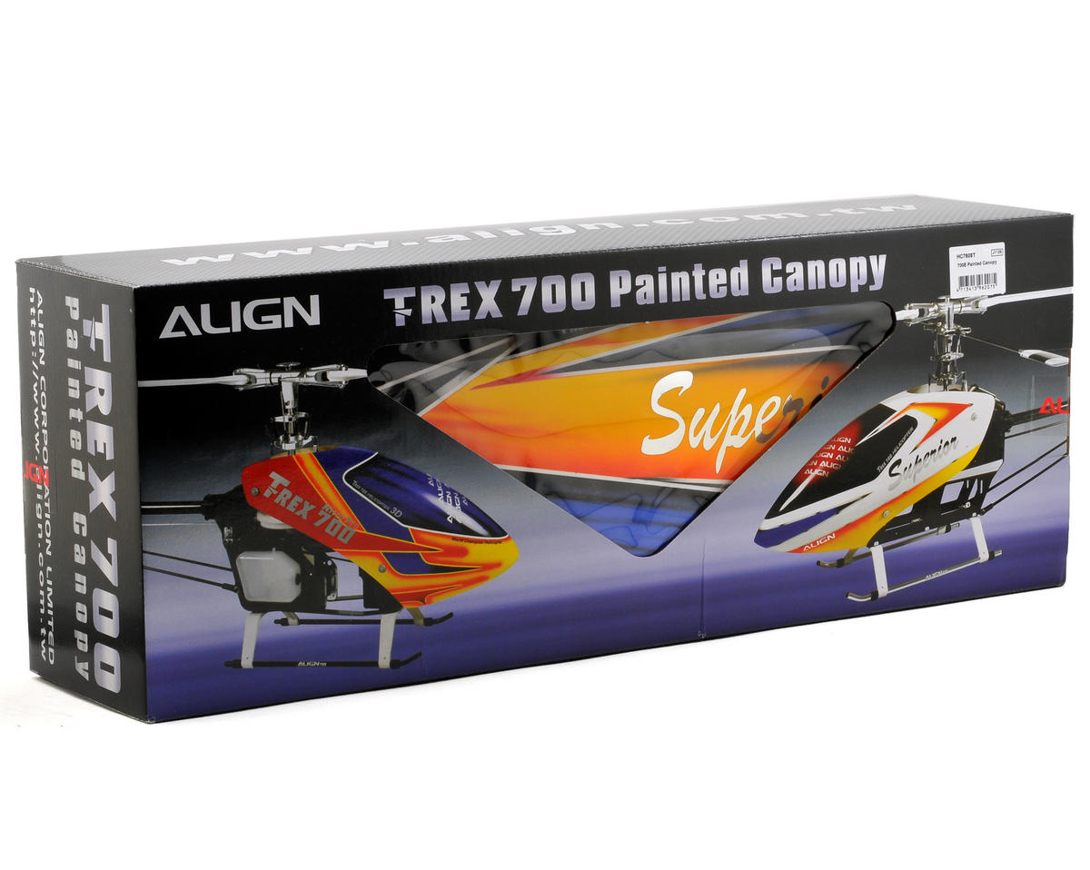 Align 700E Painted Canopy (Blue/Yellow/White)
