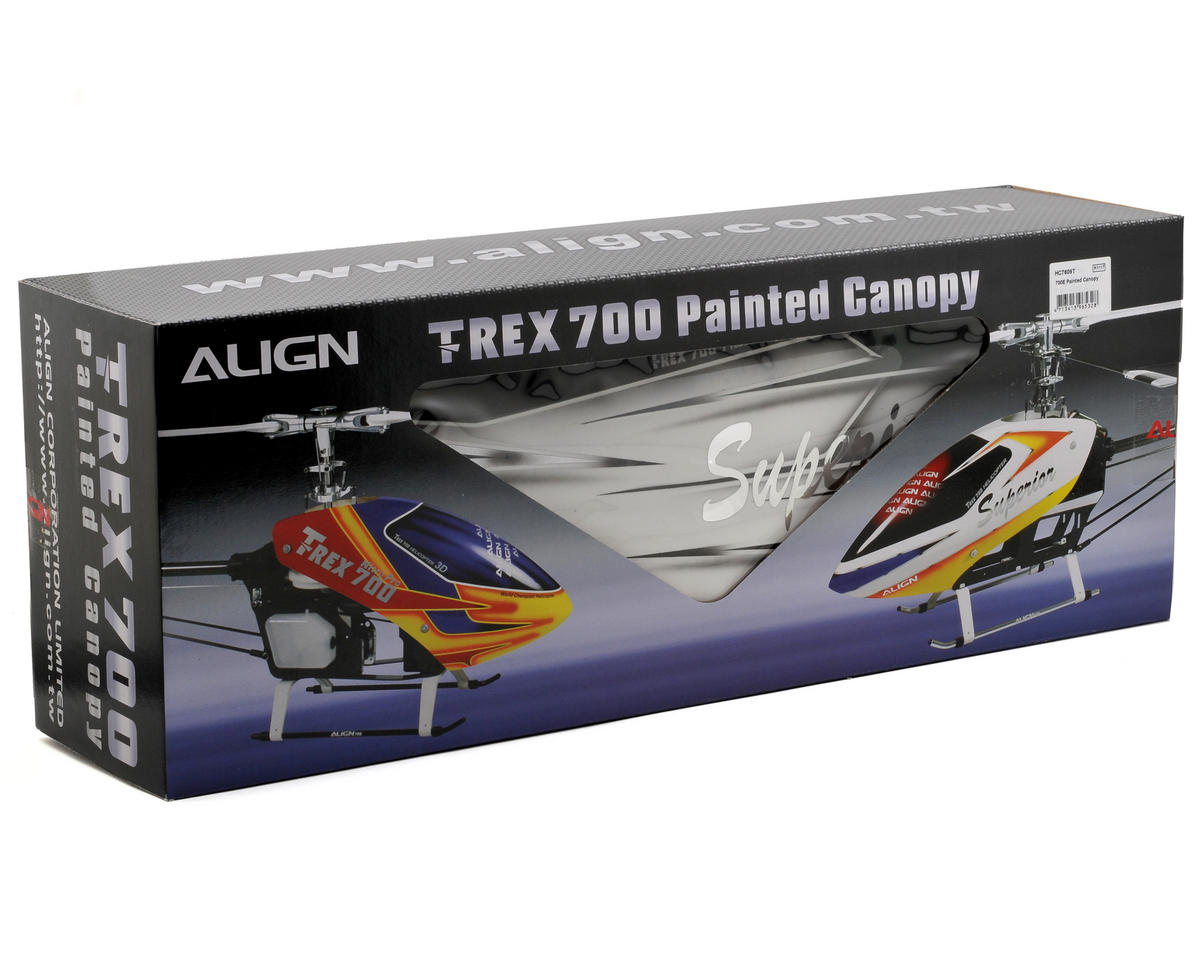 Align 700E Painted Canopy (White/Green)