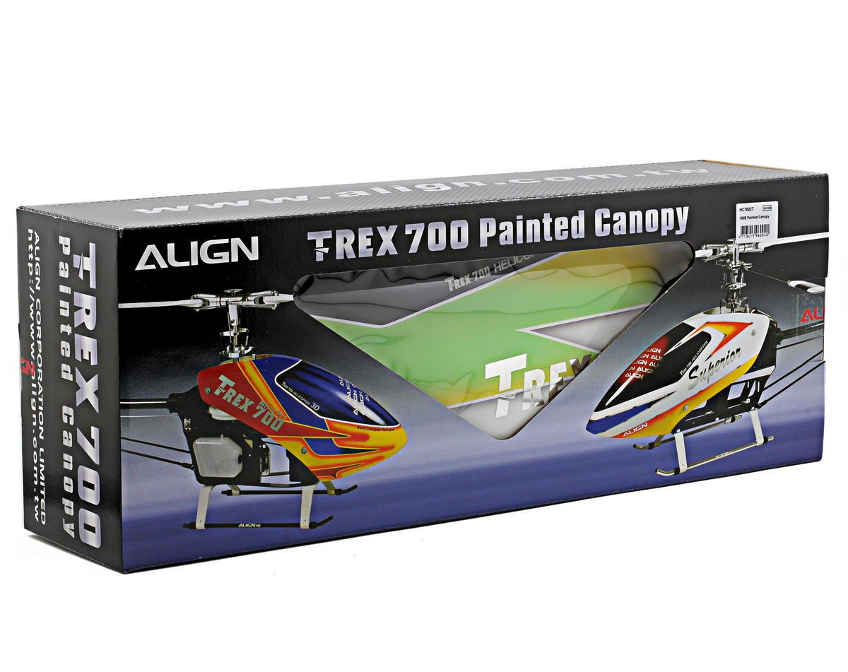 Align 700E Painted Canopy (Green/Yellow/White)