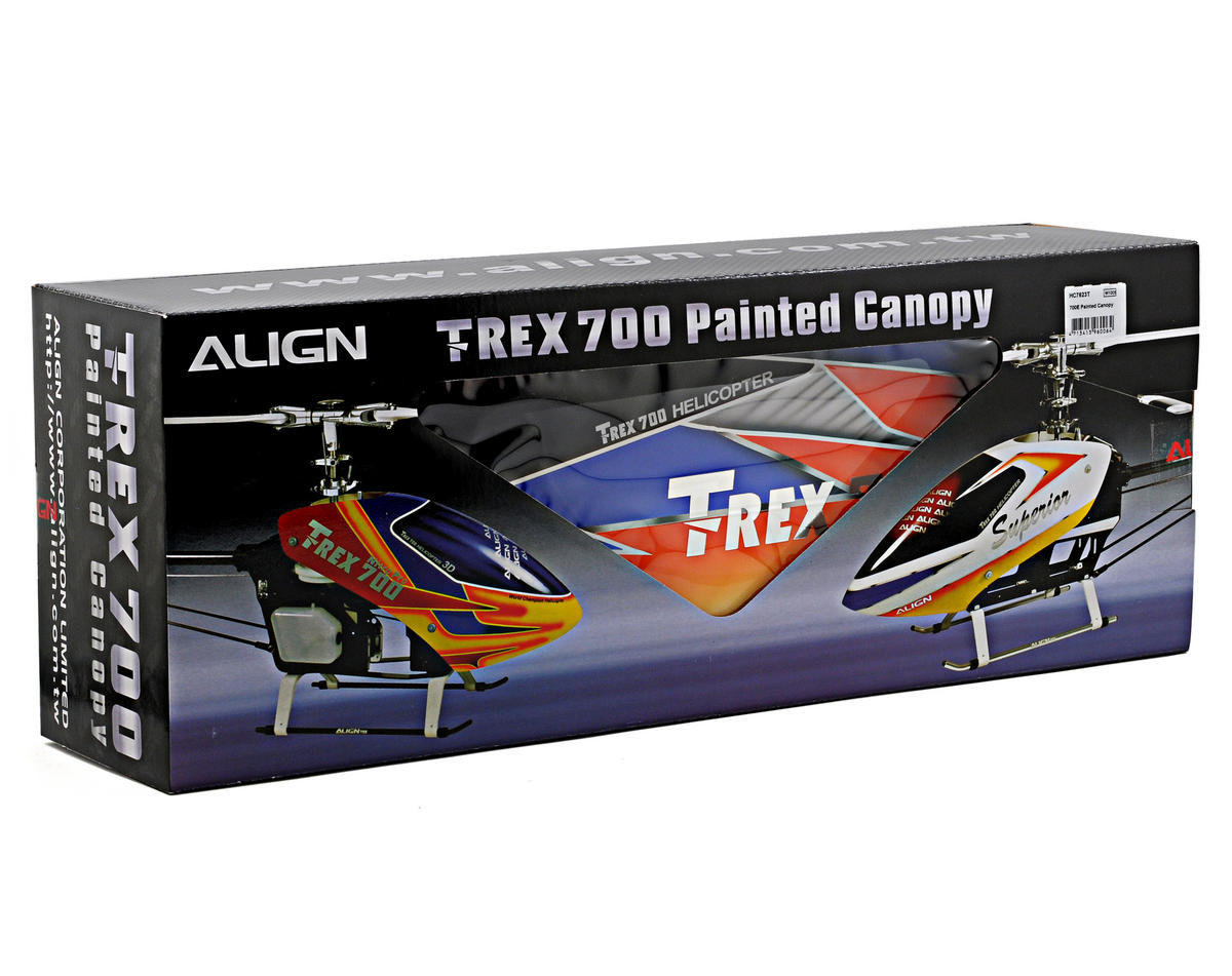 Align 700E Painted Canopy (Blue/Orange/Yellow)