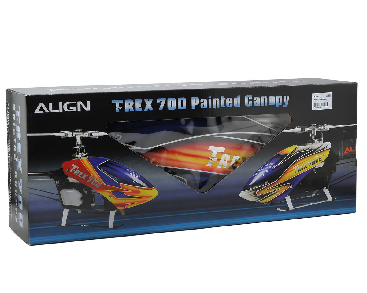 Align 700E Painted Canopy (Blue/Orange/Yellow)