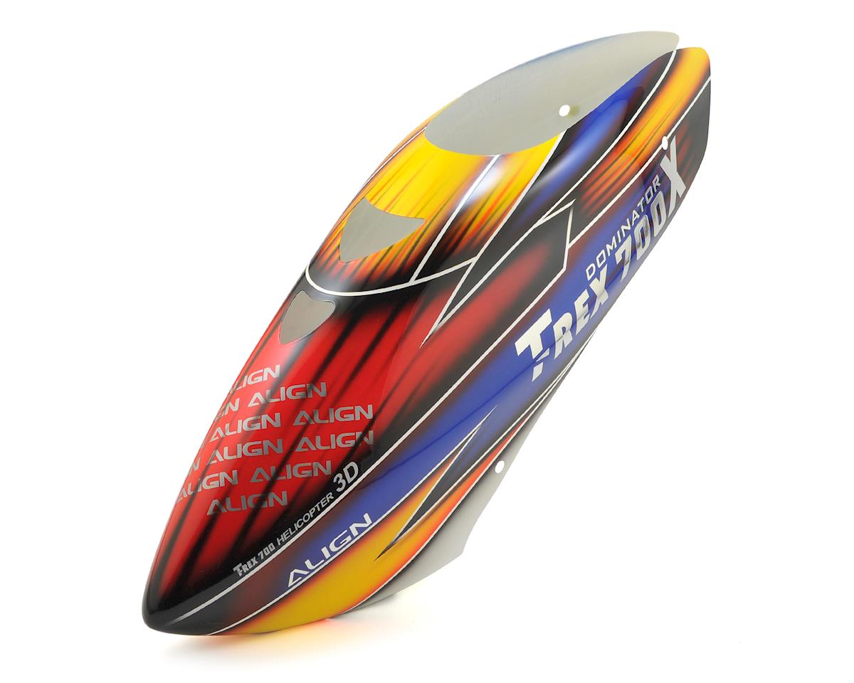 Align T-Rex 700X Painted Canopy (Blue/Orange/Red)