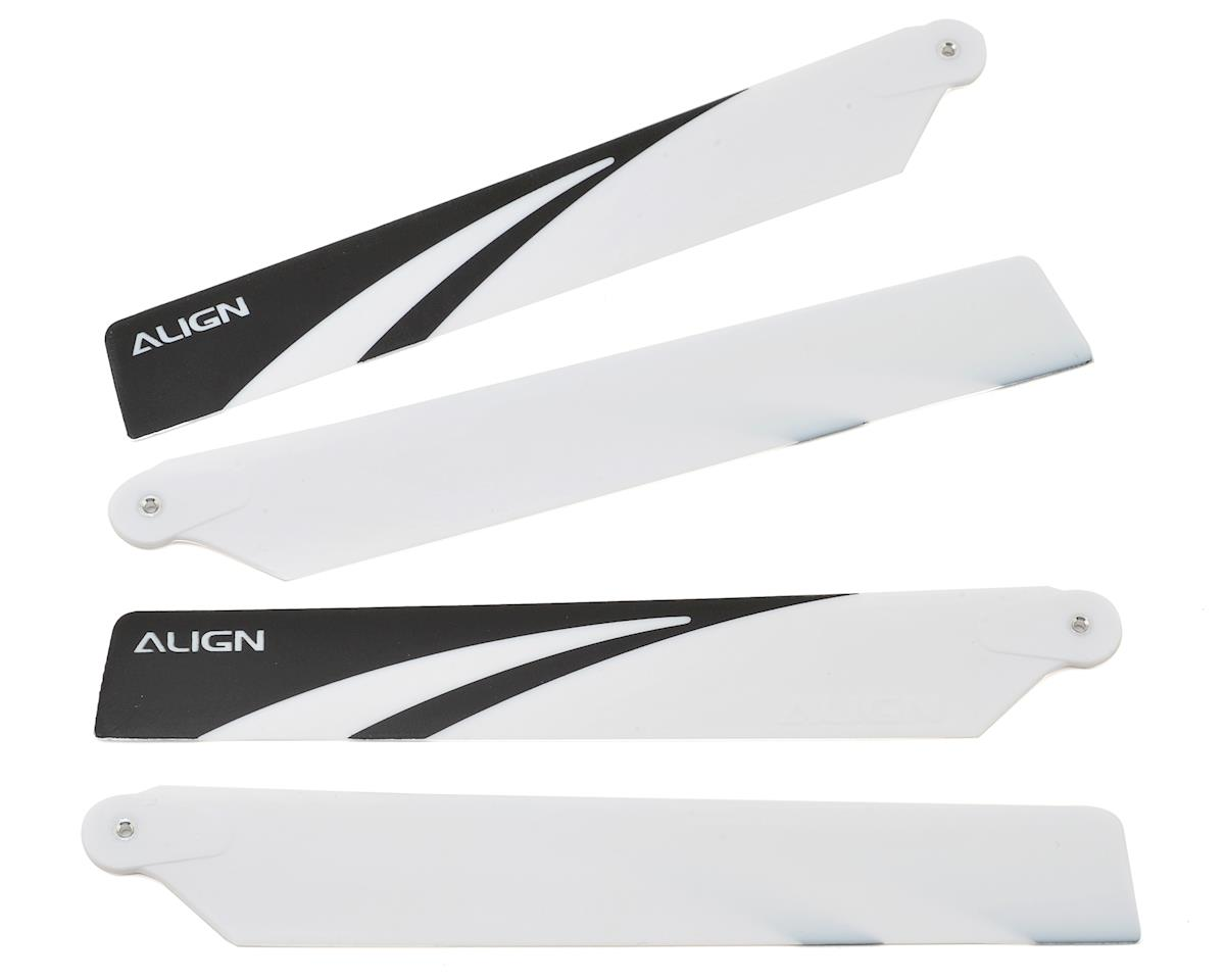 Align 150 120mm Main Blade Set (White/Black Tips)