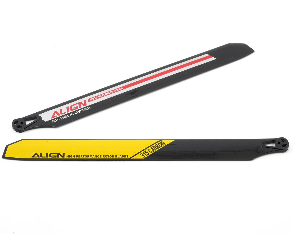 Align 315 Carbon Rotor Blade Set (Yellow/Black)