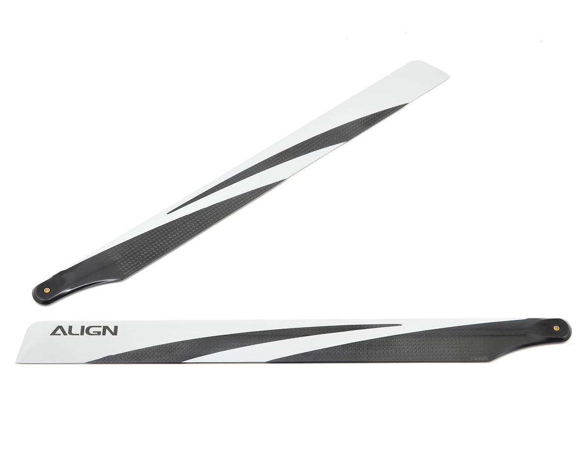 380mm Carbon Fiber Rotor Blade Set (Black) by Align T-Rex 470L