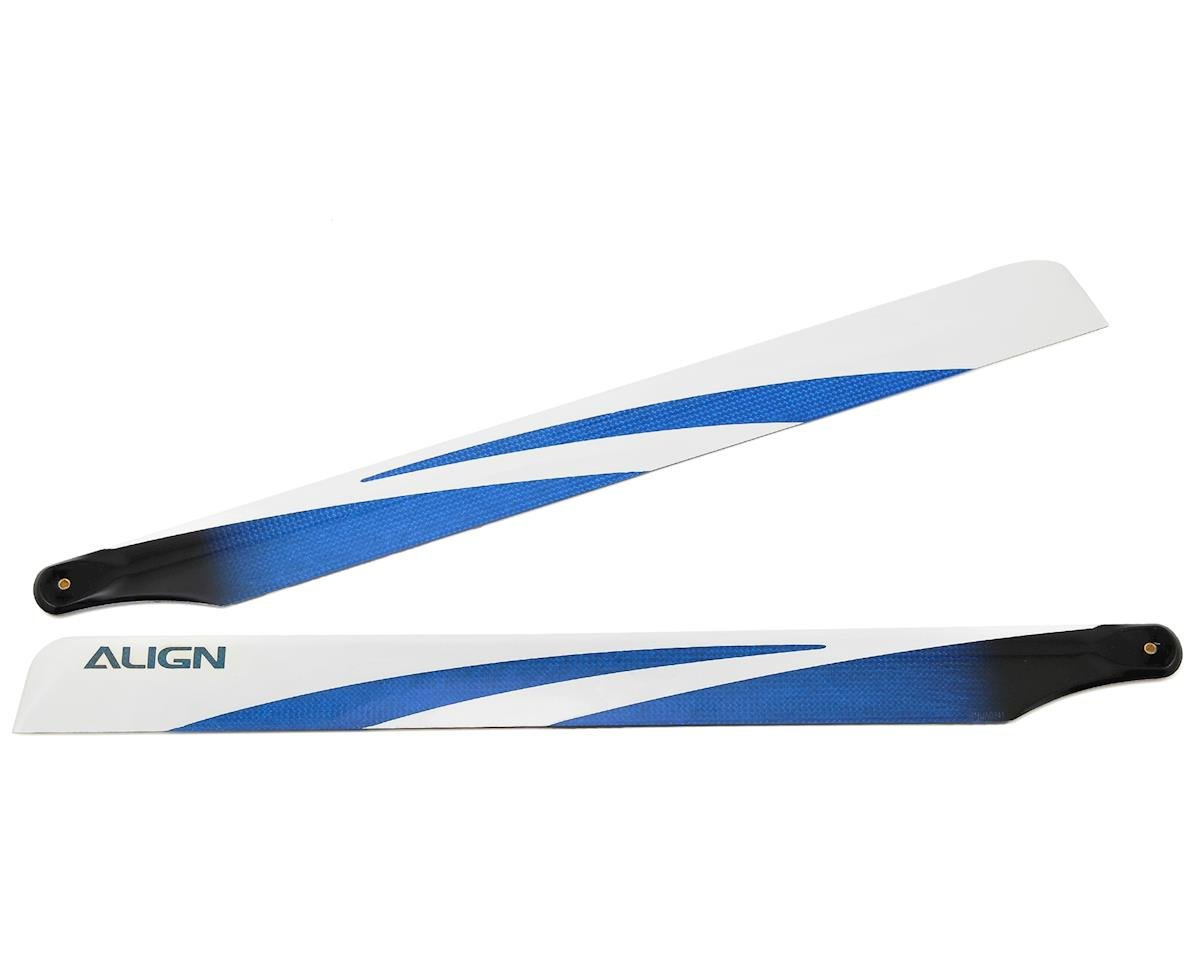 Align T-Rex 470L 380 Carbon Fiber Blades (Blue)