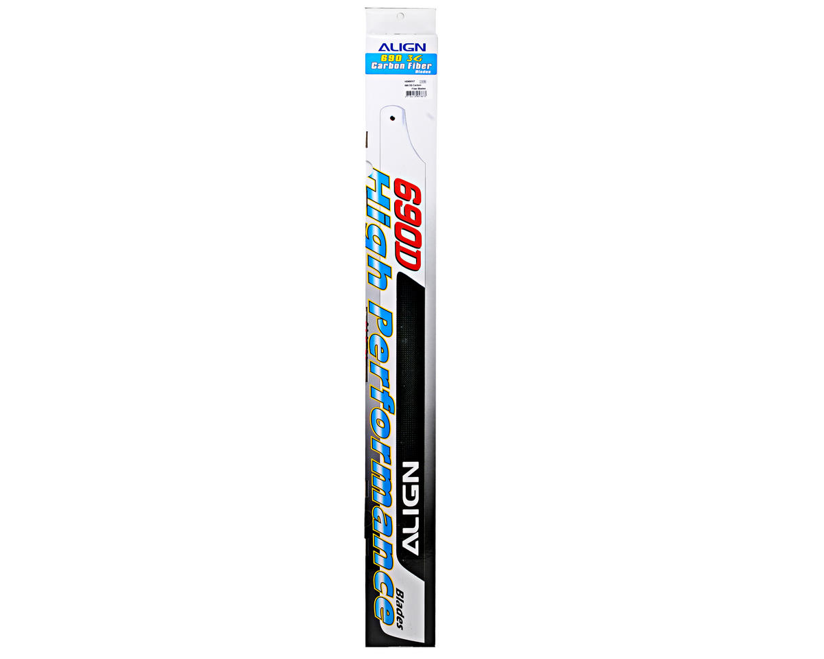 Align 690 3G Carbon Fiber Blade Set (2) (Flybarless)