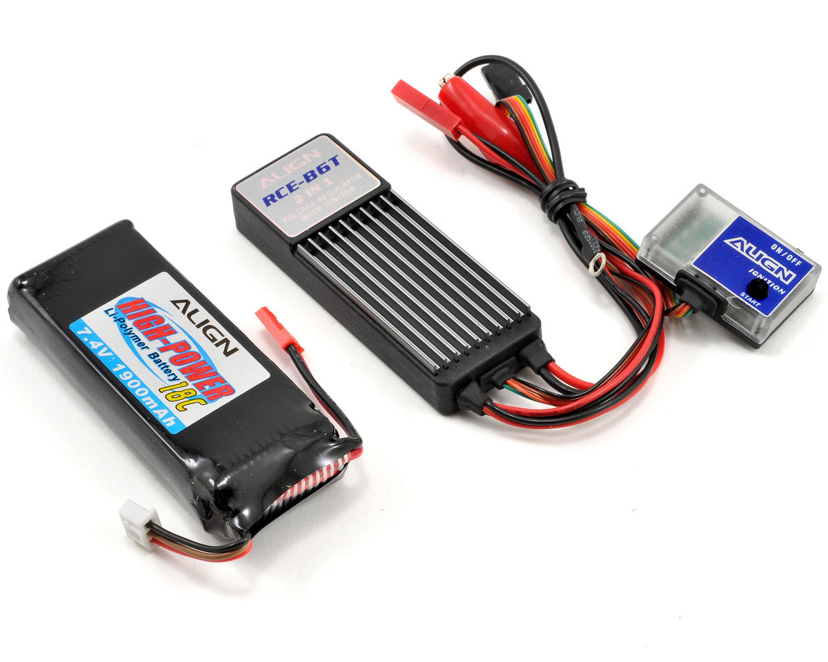Align B6T 2 in 1 Voltage Regulator/Ignitor Combo w/2S LiPo Battery