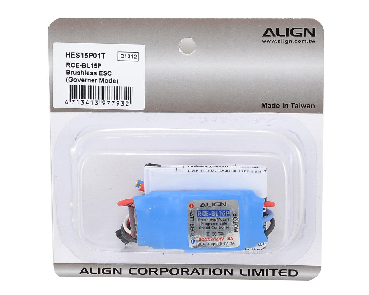 RCE-BL15P Brushless ESC w/Governer Mode by Align