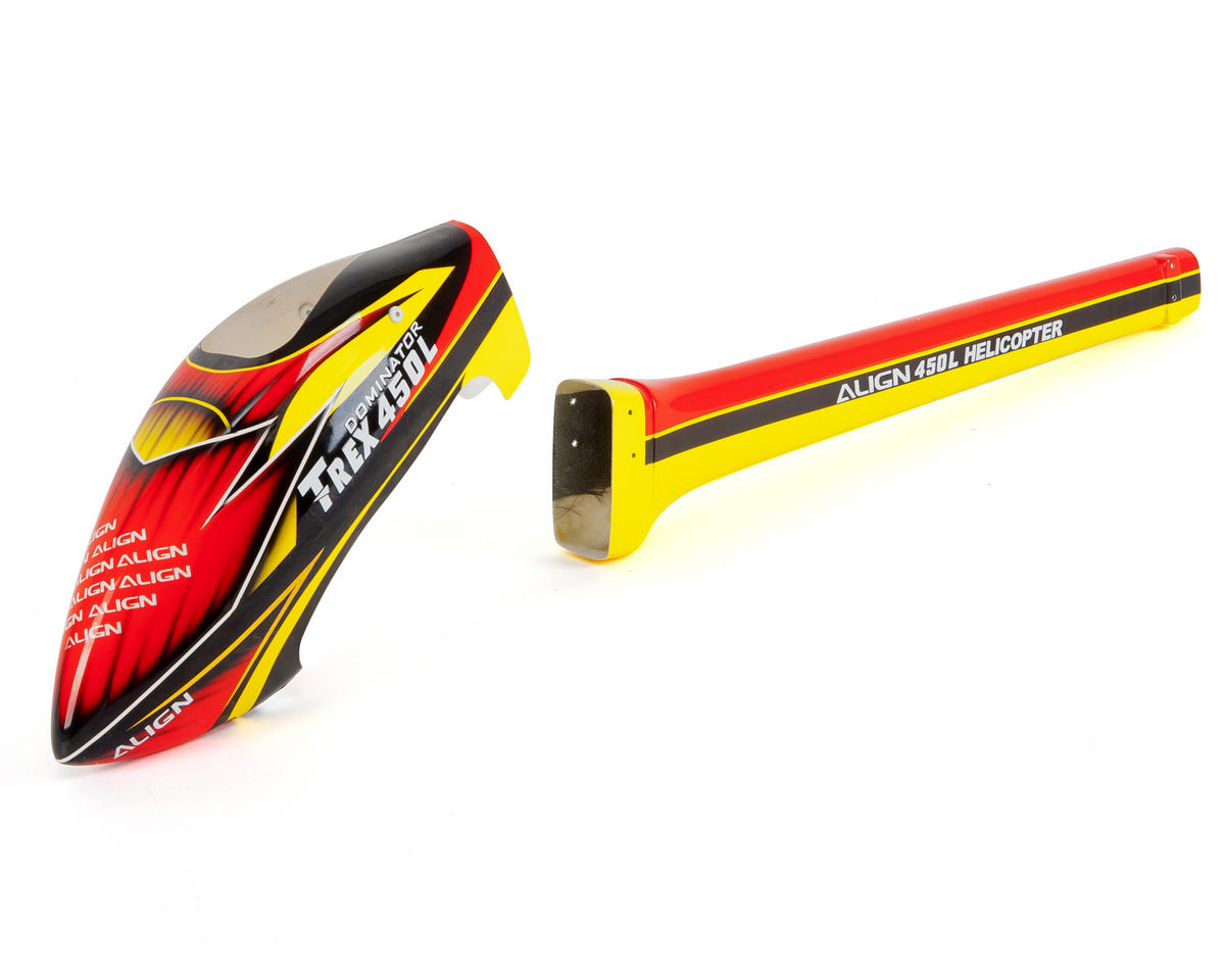 """Align 450L """"Speed"""" Fuselage (Red/Yellow)"""