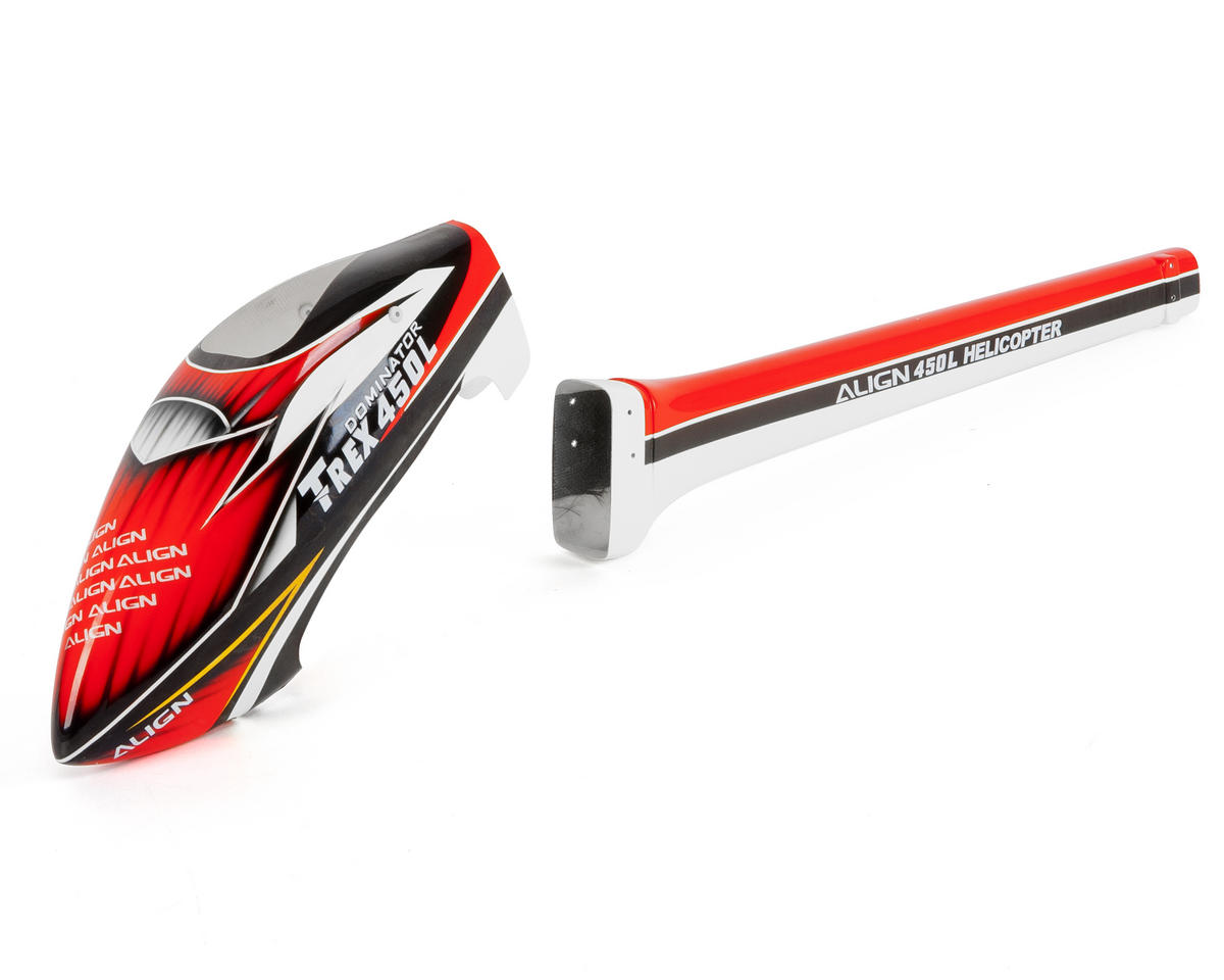 """Align 450L """"Speed"""" Fuselage (Red/White)"""
