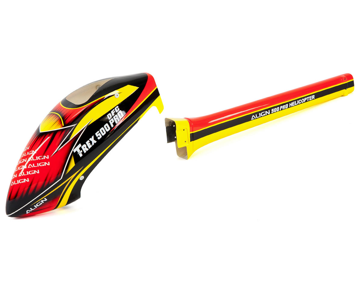 "Align T-Rex 500 Pro 500E ""Speed"" Fuselage (Red/Yellow)"