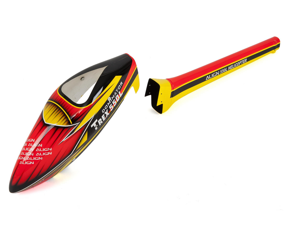 "Align 550L ""Speed"" Fuselage (Red/Yellow)"