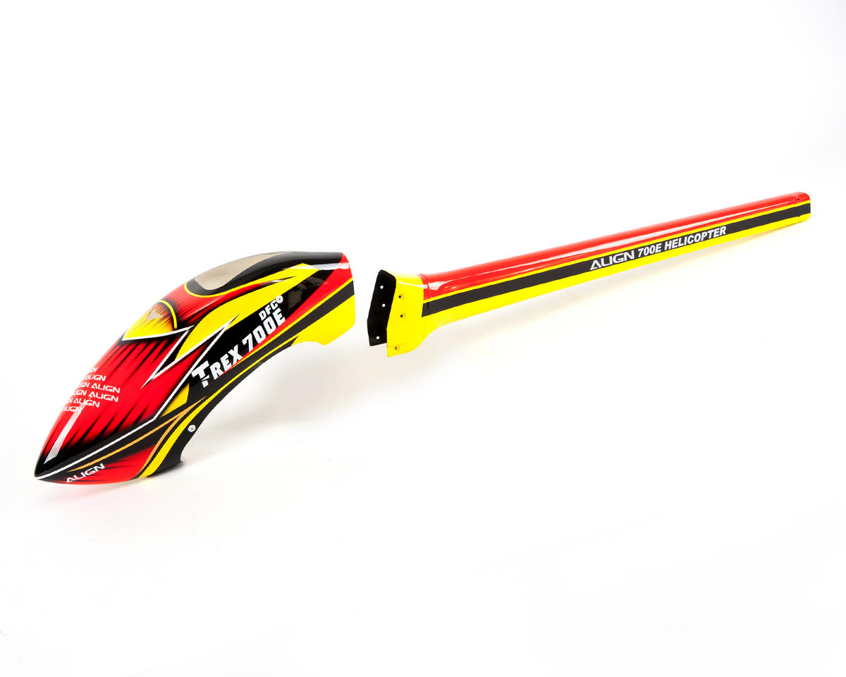 "Align 700E ""Speed"" Fuselage (Red/Yellow)"