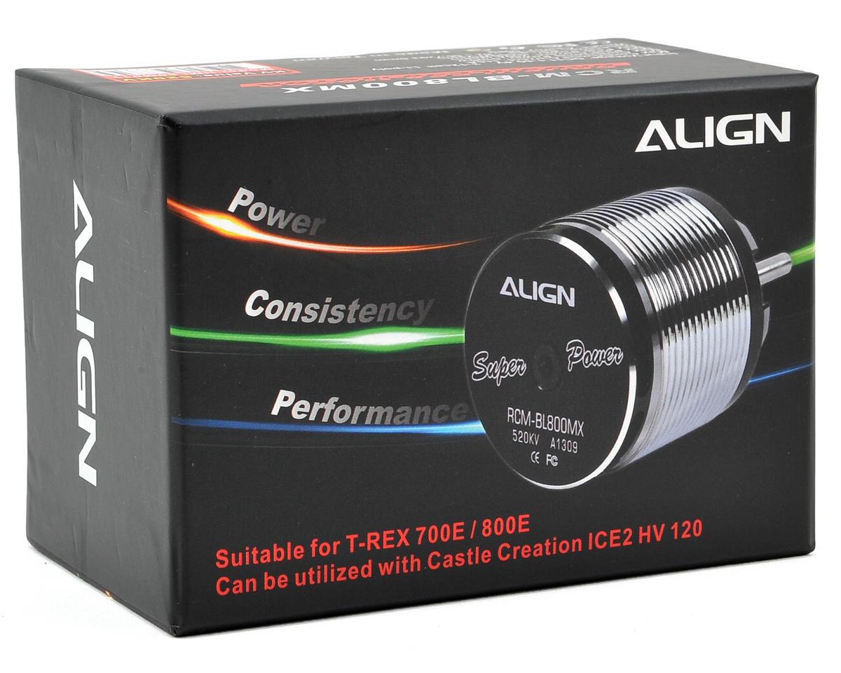 Align 800MX 800 Class Brushless Motor (520kV) (36.10mm Output Shaft)